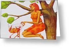 Orange Olga Greeting Card