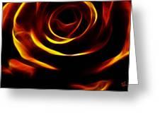 Orange Passion Rose Greeting Card