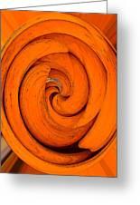 Orange Peal Greeting Card