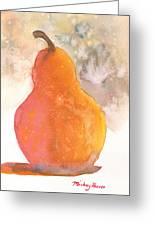 Orange Pear Greeting Card