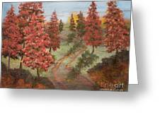 Orange Pines Greeting Card