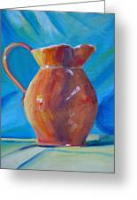 Orange Pitcher Still Life Greeting Card