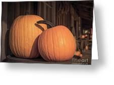 Orange Pumpkins Greeting Card