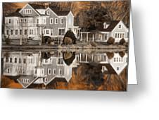 Orange Reflection Greeting Card by Vicki Jauron