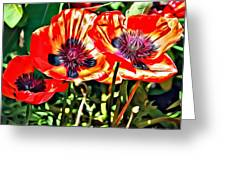 Orange Rhapsody Greeting Card