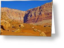Orange Rock Before The Cliffs Greeting Card