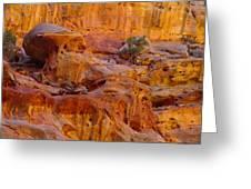 Orange Rock Formation Greeting Card