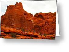 Orange Rock Greeting Card