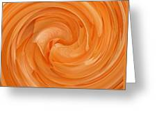 Orange Rose Swirl Greeting Card