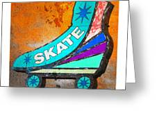 Orange Skate Greeting Card by Gail Lawnicki