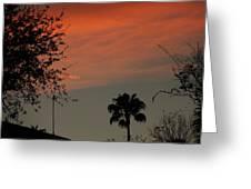 Orange Skies Greeting Card