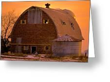 Orange Sky Barn Greeting Card