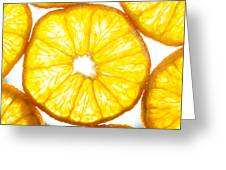 Orange. Greeting Card