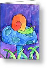 Orange Snail Greeting Card