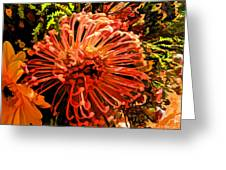 Orange Spice Floral  Greeting Card