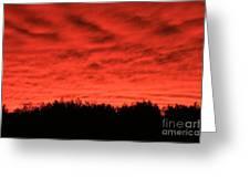Orange Sunset Glow Greeting Card