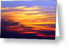 Orange Sunset Sky Greeting Card