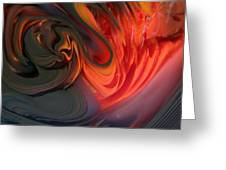 Orange Swirls Greeting Card by Kimberly Lyon