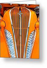 Orange Terraplane Greeting Card