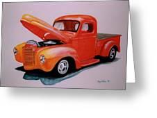 Orange Truck Greeting Card