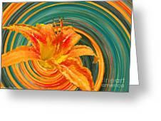 Orange Twist Daylily Photoart Greeting Card
