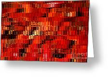 Orange Under Glass Abstract Greeting Card