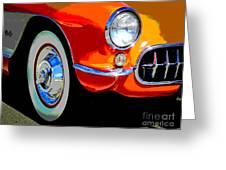 Orange Vette Greeting Card
