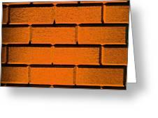 Orange Wall Greeting Card by Semmick Photo