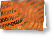Orange Wave Greeting Card