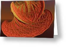 Orange Weave Greeting Card