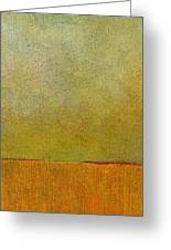 Orange With Red And Gold Greeting Card