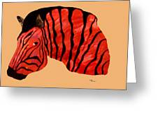 Orange Zebra Greeting Card