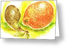Oranges And Pears Greeting Card