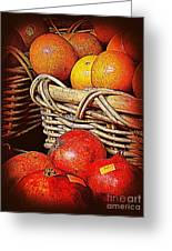 Oranges And Persimmons Greeting Card