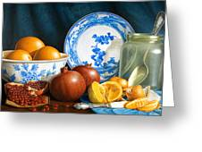 Oranges And Pomegranates Greeting Card