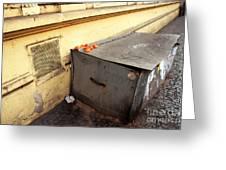 Oranges In Prague Greeting Card