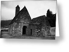 Oratory Known As St Kevins Kitchen Glendalough Monastery County Wicklow Republic Of Ireland Greeting Card