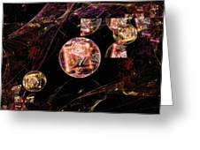 Orbs Of Infinity Greeting Card