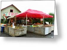 Orchard Fruit Stand Greeting Card