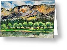 Orchard In The Valley Greeting Card