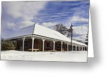 Orchard Park Depot Greeting Card by Peter Chilelli