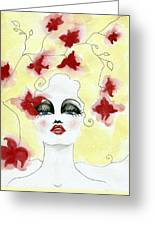 Orchid Lady Greeting Card