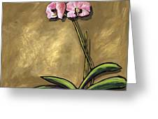 Orchid On Khaki Greeting Card