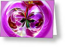 Orchid Orb I Greeting Card