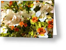 Orchids And Hydrangea Greeting Card