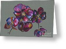 Orchids Grey Bubble Greeting Card