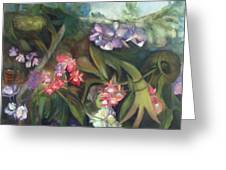 Orchids I Greeting Card by Susan Hanlon