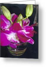 Orchids In A Glass Greeting Card