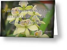 Orchids With Robert Brault Quote Greeting Card