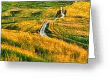 Orcia Valley Greeting Card